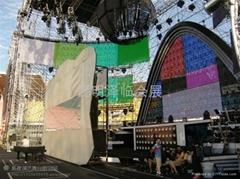 昆明灯光音响出租、舞台桁架租赁、LED显示屏、雷亚架租赁
