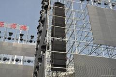 昆明线阵音响租赁、灯光音响出租、LED电子屏租赁、舞台桁架租赁