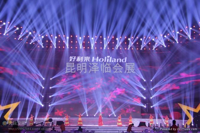 雲南昆明電腦燈出租、燈光音響租賃、LED電子屏出租、舞臺桁架租賃 1