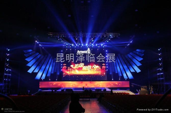 雲南昆明電腦燈出租、燈光音響租賃、LED電子屏出租、舞臺桁架租賃 2