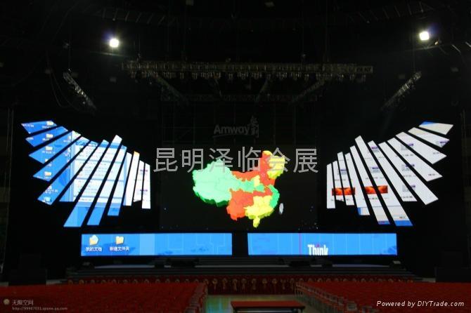 雲南昆明電腦燈出租、燈光音響租賃、LED電子屏出租、舞臺桁架租賃 3