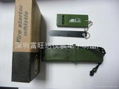 品牌户外生存者合子打火石(军绿色)