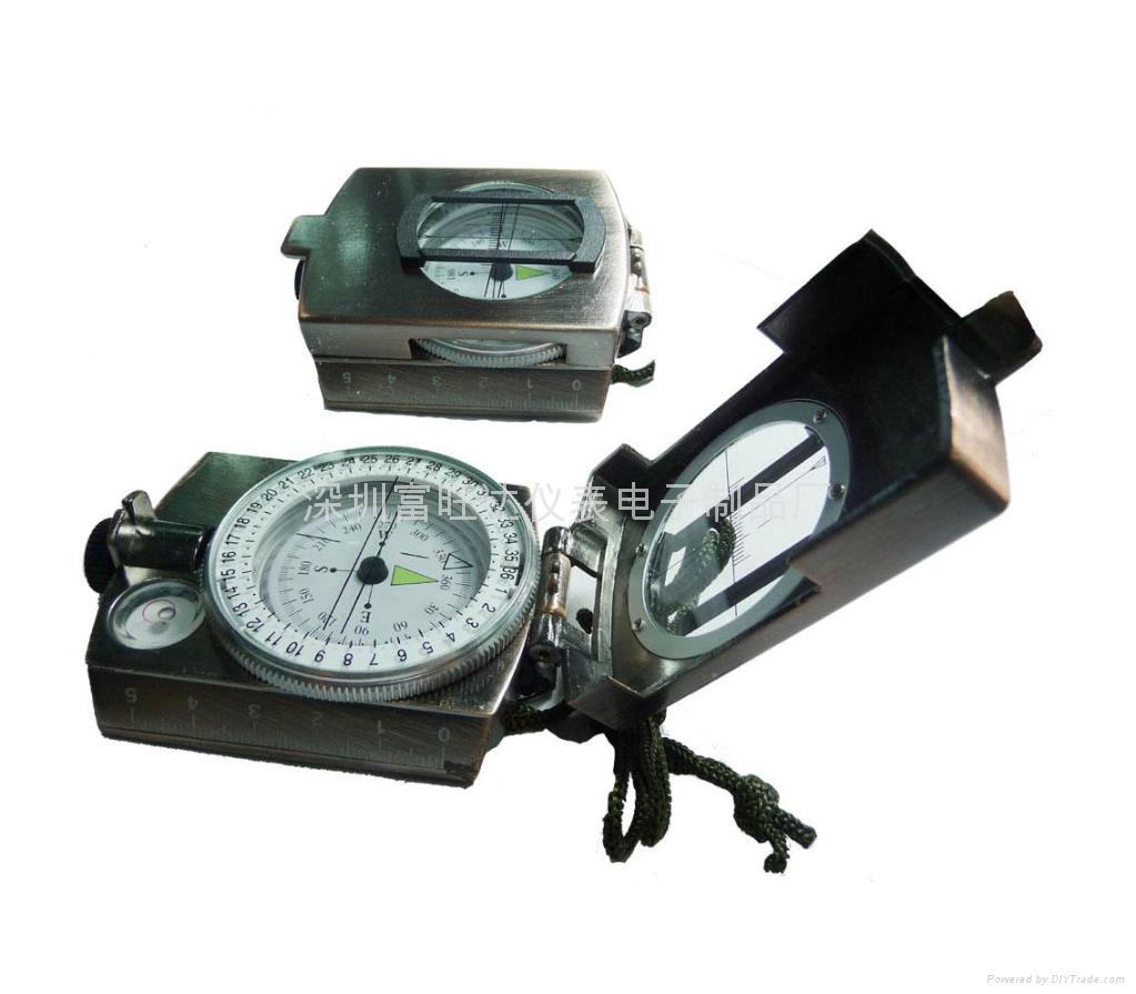 K4580高级多功能金属户外指南针(古铜色)