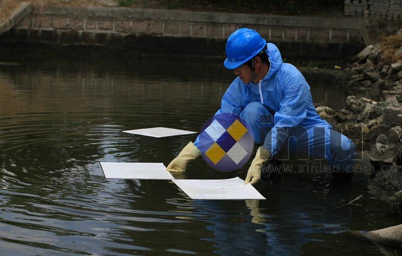 新絡1251工業吸油片水面吸油氈陸地油污吸油棉洩漏后清理用吸油墊 9