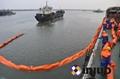 河道PVC750固体浮子式PVC围油栏水面拦截油污垃圾围油栏 2