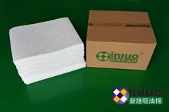 新络1251工业吸油片水面、地面泄漏后应急清洁吸油棉片
