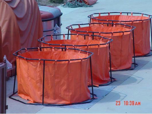 海上收油应急储存支架式轻便储油罐QG5 2