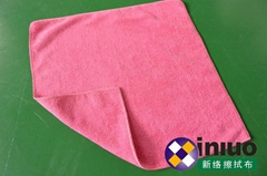 W4040擦拭巾清洁擦拭布 吸水毛巾 擦车布 混色40cm*40cm(颜色随机)