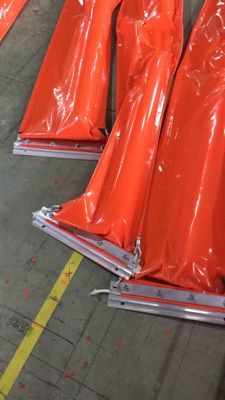 內河排污渠PVC450固體浮子式PVC圍油欄 1