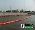 内河排污渠PVC450固体浮子式PVC围油栏