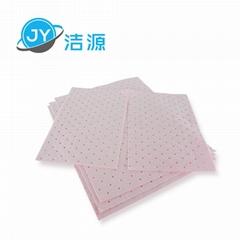粉色輕量級2MM厚節省化學品酸性液體萬用型吸附片
