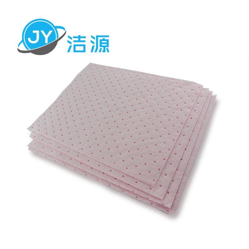 粉色輕量級2MM厚節省化學品酸性液體萬用型吸附片 4