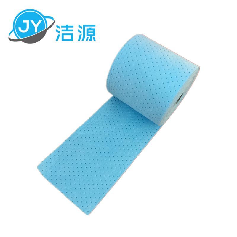 藍色2MM輕量級節省38cm寬90m長大卷實驗室碱性危害品萬用環保吸附棉 1