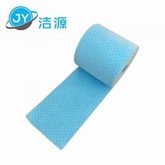 蓝色2MM轻量级节省38cm宽90m长大卷实验室碱性危害品万用环保吸附棉