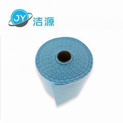 藍色2MM輕量級節省38cm寬45M長實驗台碱性危害品萬用環保吸附卷