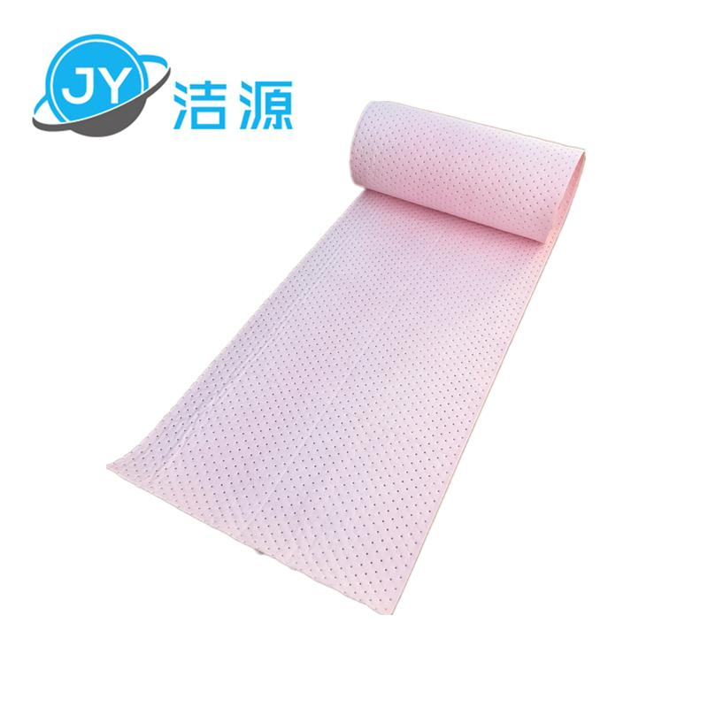 Pink 2MM thick 38CM wide 90M long chemical universal absorbent cotton 4