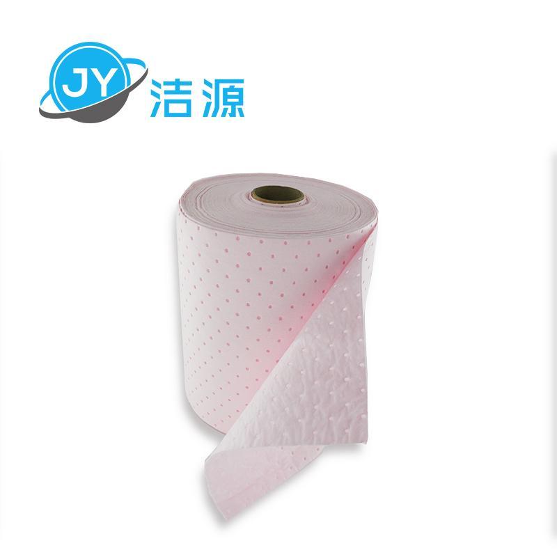 粉色輕量級2MM厚節省38CM寬45M實驗室酸性化學品萬用吸附卷 3