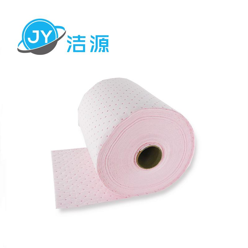 Pink 2MM thick 38CM wide 45M laboratory acid chemicals universal adsorption roll 4