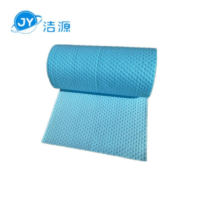 藍色3MM環保吸附毯80cm寬30m長大卷實驗室碱性危害品萬用環保吸附棉 1