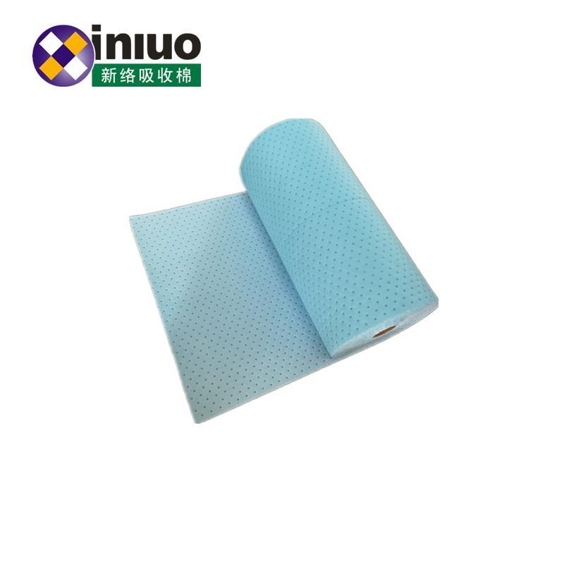 藍色環保耐磨走道吸附毯化工廠實驗室碱性危害液體吸附棉 3