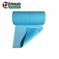 藍色環保耐磨走道吸附毯化工廠實驗室碱性危害液體吸附棉 4
