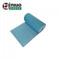 藍色環保耐磨走道吸附毯化工廠實驗室碱性危害液體吸附棉 5