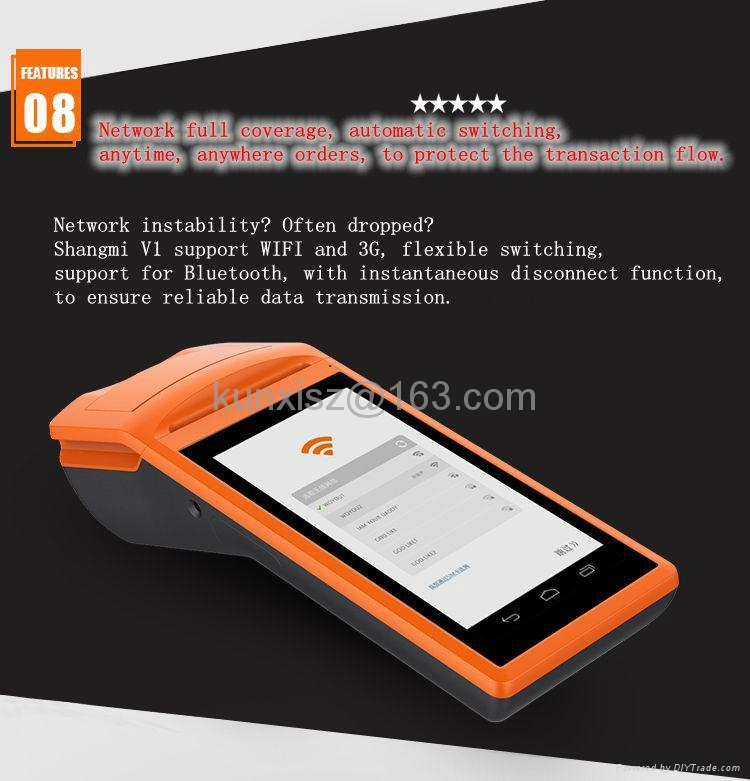 Bluetooth Printer WIFI / 3G Printer Thermal Takeout Printer Sunmi V1 10