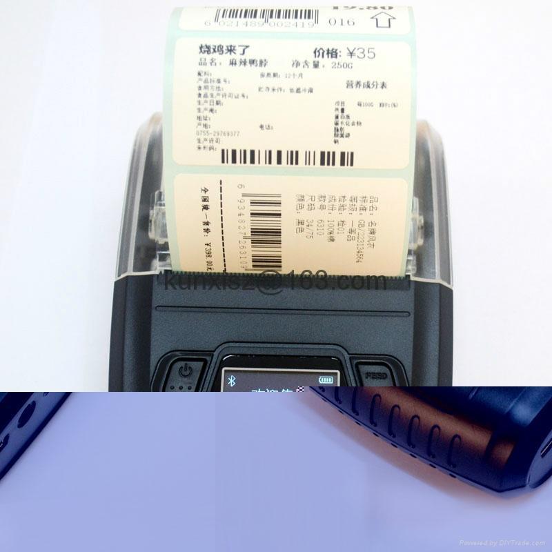 58MM便携式液晶显示蓝牙打印机标签打印机 4