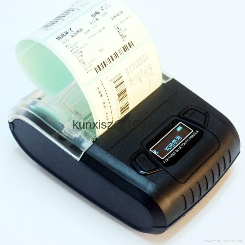 58MM便携式液晶显示蓝牙打印机标签打印机 6
