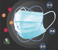 Prevention of COVID-19 masks.Disposable mask anti-fog asepti