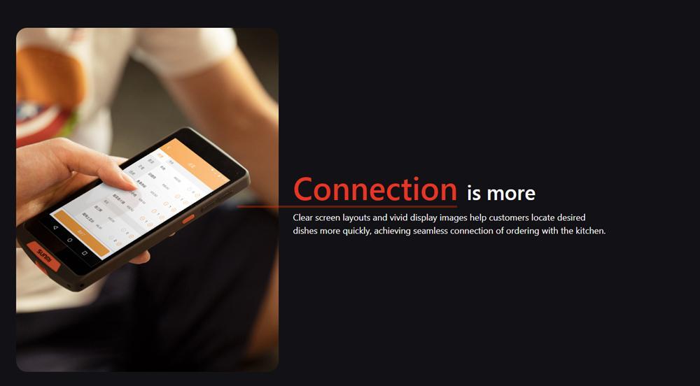 移動手持式條形碼掃描儀WiFi藍牙便攜式餐廳訂購PDA 10