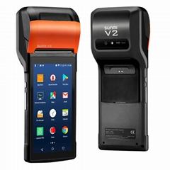 手持便携式智能58mm热敏打印机收银机一机外卖打印机SUNMI V2