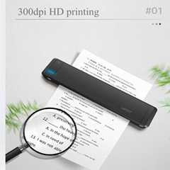 A4 portable thermal transfer printer Bluetooth built-in battery