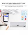 迷你便攜打印機A4熱敏打印機藍牙內置電池隨時打印 5