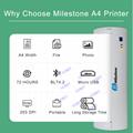 迷你便攜打印機A4熱敏打印機藍牙內置電池隨時打印 7