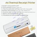 迷你便攜打印機A4熱敏打印機藍牙內置電池隨時打印 9