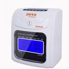电子钟表英文电子考勤机员工卡电池电源