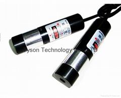 Focus adjustable red line laser module