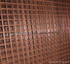 Brass Welded Wire Mesh Panel