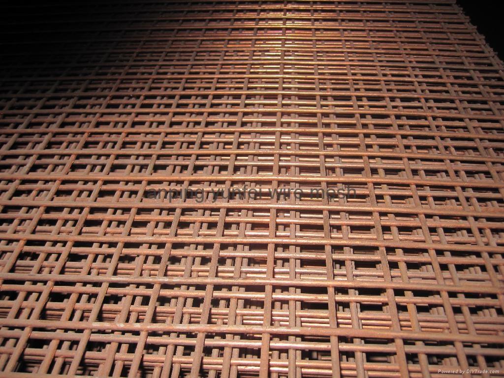 Brass welded wire mesh panel yf  yunfei