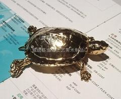 生态仿真镀金龟(金属制)