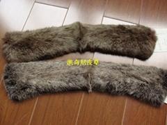 草黃兔毛毛領 棉衣毛領 皮草毛領 小方領