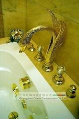 Swan Gold faucet/art faucet/villa faucet/presidential suite bathroom