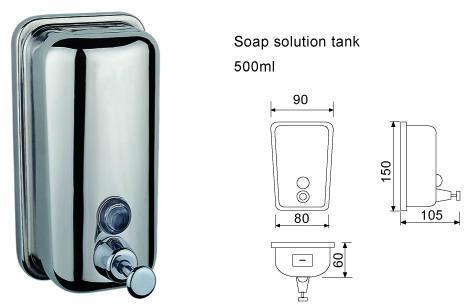 不鏽鋼皂液器 手動皂液盒 挂牆式皂液機 304不鏽鋼洗手液盒 10