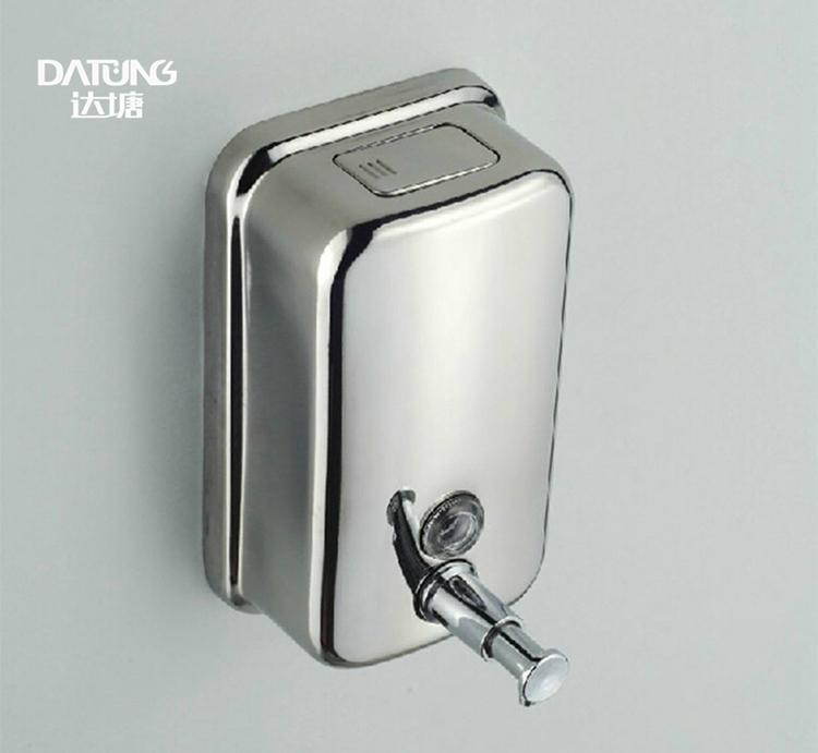 不鏽鋼皂液器 手動皂液盒 挂牆式皂液機 304不鏽鋼洗手液盒 12