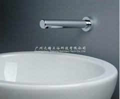 墙出水感应水龙头一体式自动水龙头全铜电子免接触水龙头