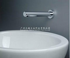 wall mounted hands free faucet brass tap auto spout