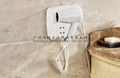 Wall Mounted hotel hair dryer with shaver socket optional
