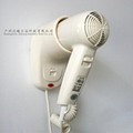 fireproof ABS wall mounted hair dryer for star hotel