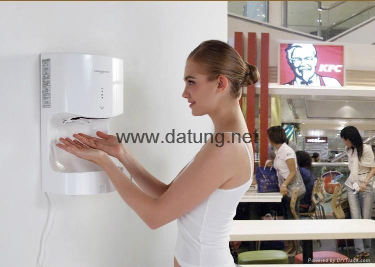 松下同款肯德基麥當勞專用 冷暖高速噴氣式干手機 干手器 12
